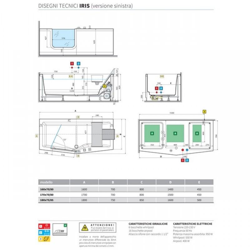 iris vasche idromassaggio vasche da bagno. Black Bedroom Furniture Sets. Home Design Ideas