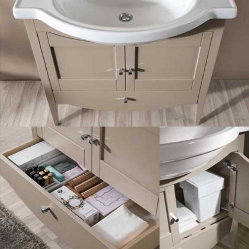 Simona 11 80 mobile bagno a terra mobili bagno for Mobili bagno a terra