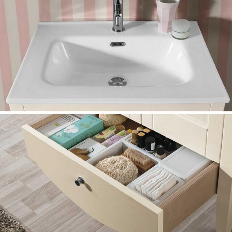 Pamela 12 60 mobile bagno a terra mobili specchi - Mobili da bagno a terra ...