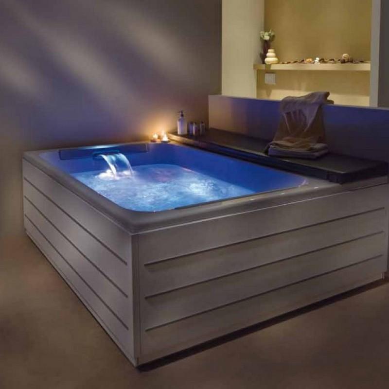 Vasca Da Bagno Con Seduta E Legno Oggetti Design : Spa loft
