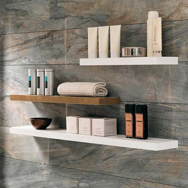 Mensole pensili e colonne mobili specchi for Mensole x bagno