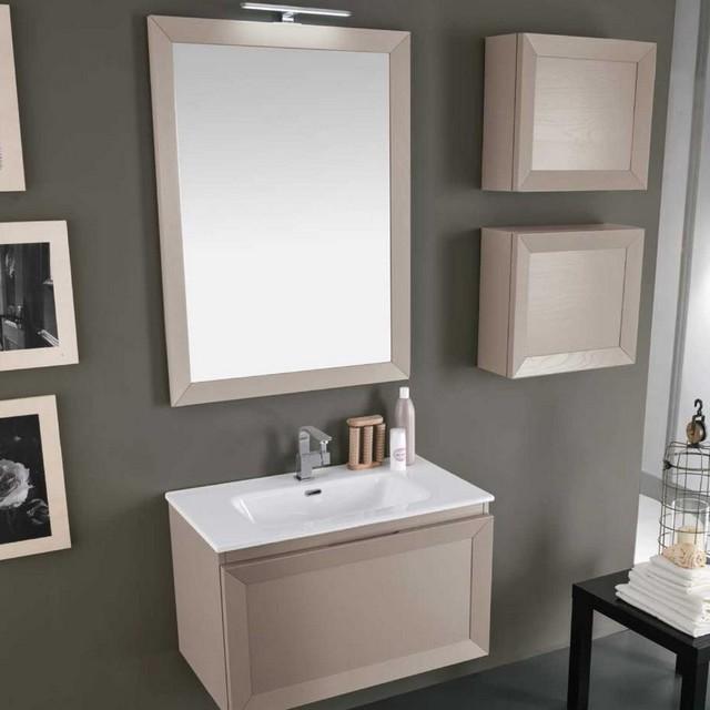 Paola 17 80 mobili bagno sospesi mobili specchi for Outlet dei mobili