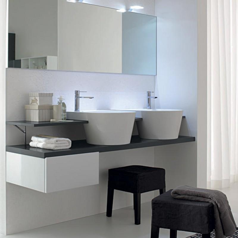 Canestro 09 160 mobili bagno sospesi mobili specchi for Mobili bagno sospesi on line
