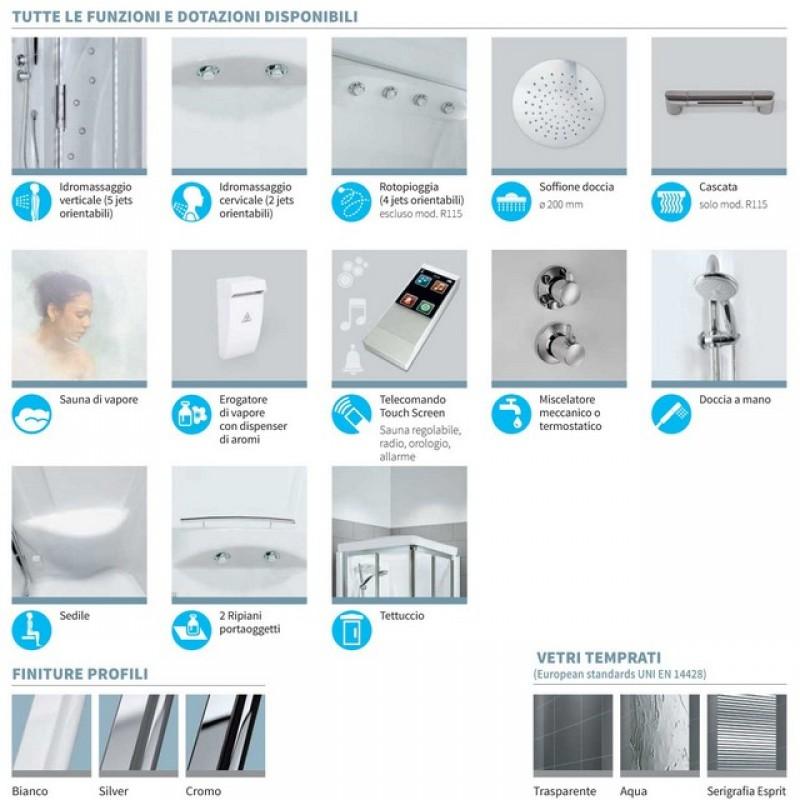 novellini new holiday r. Black Bedroom Furniture Sets. Home Design Ideas
