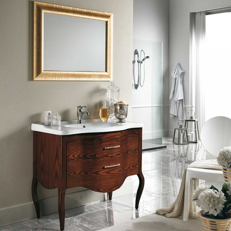 Sonia 32 90 mobile bagno a terra mobili specchi - Mobili eban bagno ...