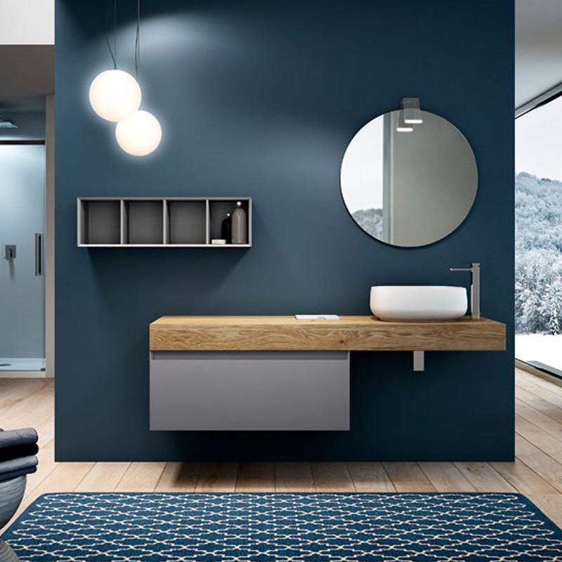 Very wood 01 160 mobili bagno sospesi mobili specchi for Turco arredamenti