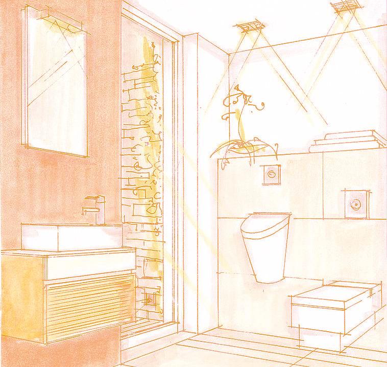 Il bagno mansardato